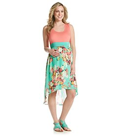 Three Seasons Maternity™ Solid Tank Floral Skirt Dress