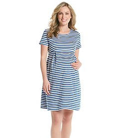 Three Seasons Maternity™ Stripe Ponte Knit Dress