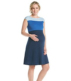 Three Seasons Maternity™ Tri Color Knit Dress