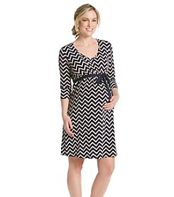 Three Seasons Maternity™ Chevron Print Dress