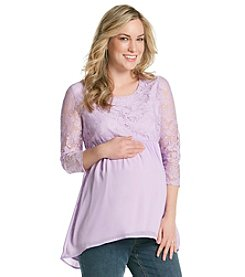 Three Seasons Maternity™ Solid Lace Top