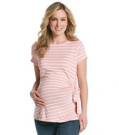 Three Seasons Maternity™ Stripe Side Tie Knit Top