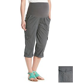 Three Seasons Maternity™ Cargo Rolled Cuff Capris