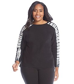 Marc New York Performance Plus Size Tie Dye Pullover