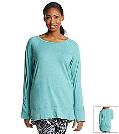 Marc New York Performance Plus Size Ruched Back Pullover