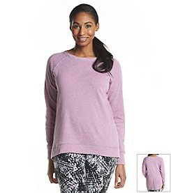 Marc New York Performance Plus Size Twisted Crew Neck Pullover