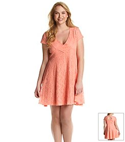 Jessica Simpson Plus Size Kaitlee Flare Lace Dress