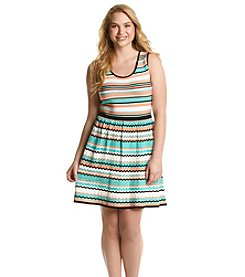 Jessica Simpson Plus Size Florence Stripe Dress