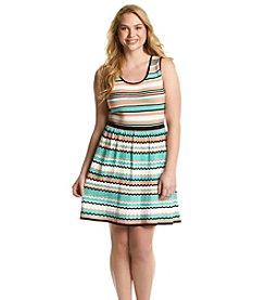 Jessica Simpson Plus Size Florence Stripe Dress