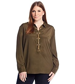 MICHAEL Michael Kors® Plus Size Chain Lace-Up Top