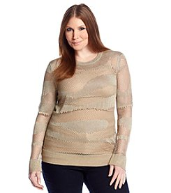 MICHAEL Michael Kors® Plus Size Sparkle Mesh Top