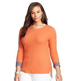 Lauren Ralph Lauren® Plus Size Double-Faced Tee
