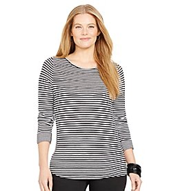 Lauren Ralph Lauren® Plus Size Double-Faced Ballet-Neck Shirt