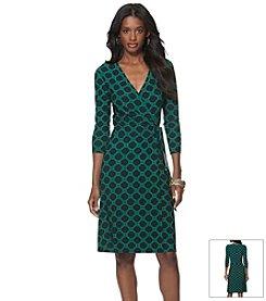 Chaps® Geo Printed Jersey Dress