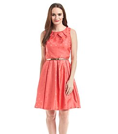 Jessica Howard® Polka Dot Pleated Dress