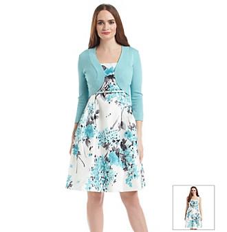 Upc 689886912739 Jessica Howard Floral Sweater Shrug Dress