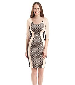 Sangria™ Panel Scuba Sheath Dress