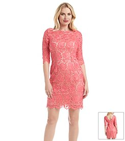 Eliza J Pink® Lace Shift Dress