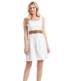 Nine West® Belted Burnout Dress