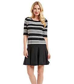 Ivanka Trump® Striped Sweater Dress