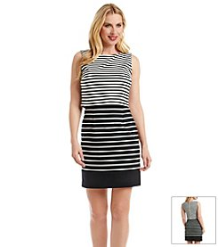 Ivanka Trump® Popover Striped Dress