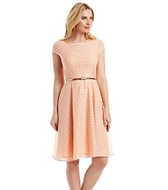 Kasper® Lace Belted Dress