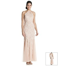 Xscape Lace Halter Gown