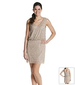 Xscape Beaded Blouson Dress