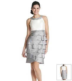 Jessica Howard® Beaded Neck Shutter Dress
