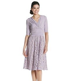Sangria™ Surplice Lace Dress