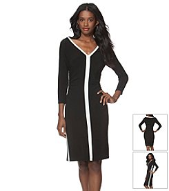 Chaps® V-Neck Day Dress