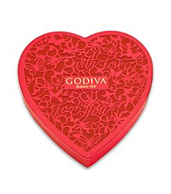 Godiva® 15-pc. Paper Heart Gift Box