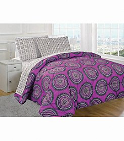 Rampage® Medallion Pinkberry 5-pc. Comforter Set