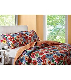 Greenland Home® Crimson Crush 3-pc. Quilt Set