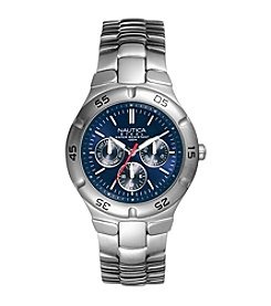 Nautica® Men's Chronograph Stainless Steel Watch