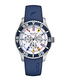 Nautica® Men's Multifunction Blue Resin Watch