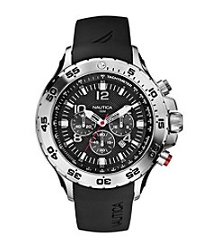 Nautica® Men's Black Yachting Chronograph Watch