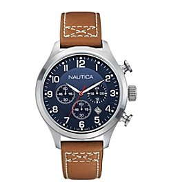 Nautica® Men's Tan Chronograph Watch