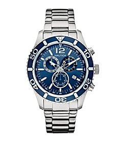Nautica® Men's Stainless Steel Chronograph Watch