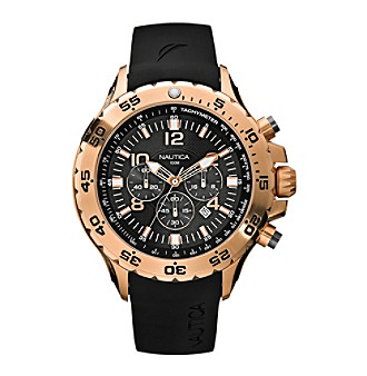 Nautica Men's Black Chronograph Watch