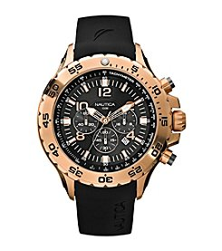 Nautica® Men's Black Chronograph Watch