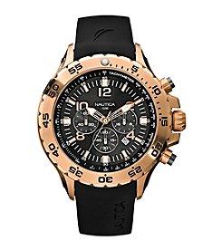 Nautica® Men's Black Chronograph Watch