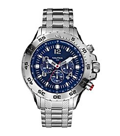 Nautica® Men's Stainless Steel Yachting Chronograph Watch