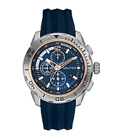 Nautica® Men's Navy Silicone Chronograph Watch