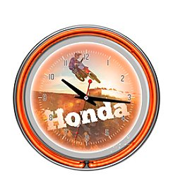 Trademark Home™ Honda Power Sport Chrome Double Ring Neon Clock