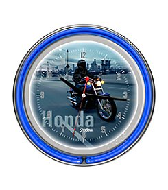 Trademark Home™ Honda Shadow Chrome Double Ring Neon Clock