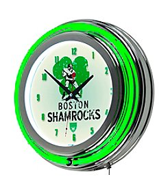 Trademark Home™ Boston Shamrocks Neon Clock