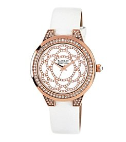 Badgley Mischka® Rose Goldtone Round Timepiece