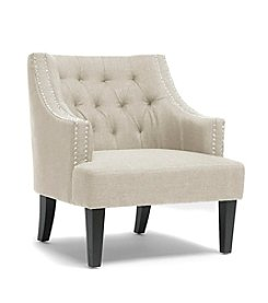 Baxton Studios Millicent Beige Linen Arm Chair