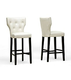 Baxton Studios Billings Set of 2 Modern Bar Stools